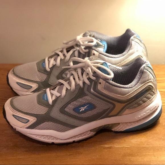 3759e881701 White Blue Gray DMX FOAM REEBOK women s sneakers. M 5a617b83f9e50183eb1255ac
